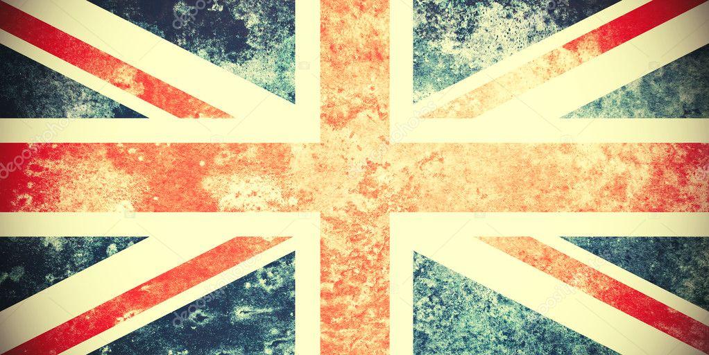 Vintage British Flag Wallpaper Grungy Vintage Union Jack