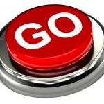 Go Button — Stock Photo