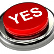 Yes Button — Stock Photo