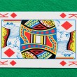Isolated King Playing Card - Stock Photo
