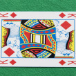 Isolated King Playing Card — Stock Photo