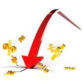 Interest Rate Crash — Stock Photo