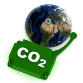 Co2 Warning — Stock Photo