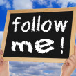 Follow Me ! — Stock Photo