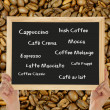Different types of coffee — Stock fotografie