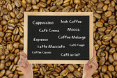 Different types of coffee — Stock Photo