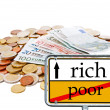 Rich and poor — Foto Stock
