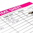 Filling Time Sheet with hours — Stock Photo #10840493