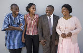 Happy African Family — Stock Photo