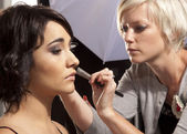 Make-up for the shoot — Stock Photo