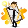 Smart Businessman Done With His Checklist — Stock Vector