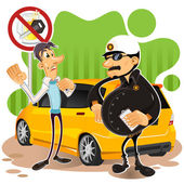 Driving Under The influence — Stock Vector