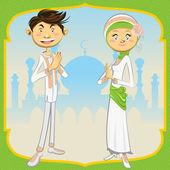Ramadan Mubarak — Stock vektor