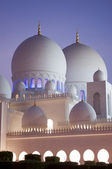 Domes of grand mosque in Abu Dhabi — Stock Photo