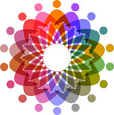 Circle of colorful pictogram, abstract vector icon for design — Stock Vector