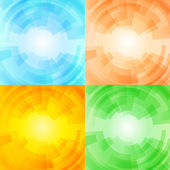 Set of season backgrounds, eps10 vector — Stock Vector