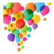 Colorful Balloons Background, vector illustration for design — Vector de stock