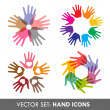 Collection of vector hand icons — Stock Vector