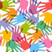 Seamless handprint pattern — Stock Vector