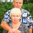 Sad senior couple — Stock Photo