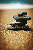 Simply blak stones — Stock Photo