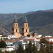 Cathedral of the Andalusian village Orgiva, Spain - 图库照片