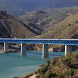 Bridge at the Autovia Sierra Nevada in Spain - Stock Photo