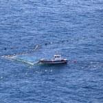 Small fishing boat in the Mediterranean sea — Stock Photo
