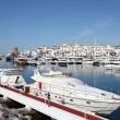 Luxury yachts in the marina of Puerto Banus, Marbella, Spain — Stock Photo #10795727