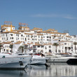 Luxury yachts in the marina of Puerto Banus, Marbella, Spain — Stock Photo