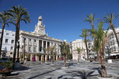 Plaza de San Juan de Dios in Cadiz, Andalusia, Spain — Stock Photo