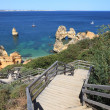 Stairs to the beach in Algarve Coast, Lagos Portugal - Stockfoto