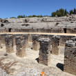 Roman Amphitheater ruin Italica. Province Seville, Andalusia Spain — Stock Photo