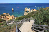 Stairs to the beach in Algarve Coast, Lagos Portugal — Stock Photo