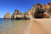 Beach at the Algarve Coast near Lagos, Portugal — Stock Photo