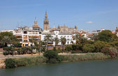 Guadalquivir river bank in Seville, Andalusia Spain — Stock Photo
