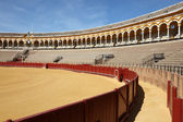 Bullfight arena (Plaza de Toros) in Seville, Andalusia Spain — Stockfoto