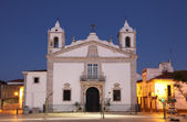 Igreja Santa Maria at dusk. Lagos, Algarve Portugal — Stock Photo