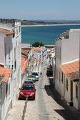 Ulica w stare miasto lagos, algarve, portugalia. — Zdjęcie stockowe