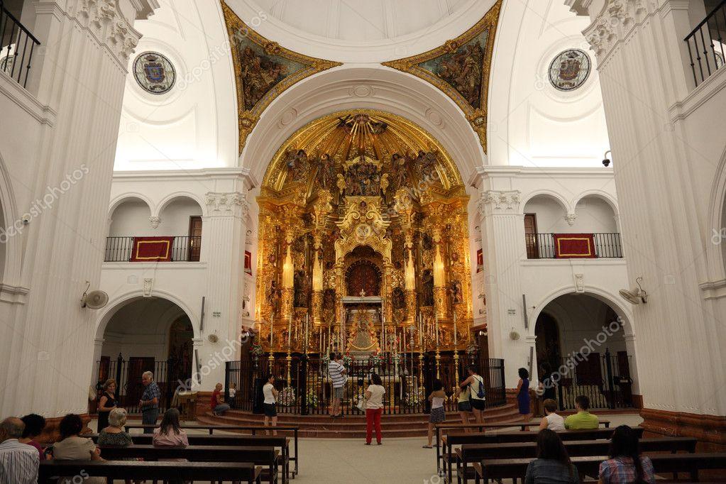 Interior of the Hermitage of El Rocío ( Ermita del Rocío or Ermita de El Rocí...