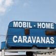 Mobile home and caravan shop in spain — Stock Photo