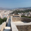 Stock Photo: Ramparts of Gibralfaro Castle in Malaga, AndalusiSpain