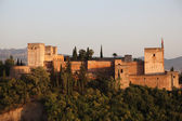 Ramparts of the Alhambra in Granada, Andalusia Spain — Stock Photo
