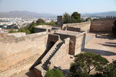 Ramparts of the castle Gibralfaro in Malaga, Andalusia Spain — Stock Photo