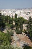 City of Malaga as seen from the Gibralfaro Castle, Andalusia Spain — Stock Photo
