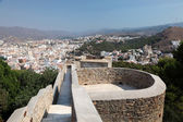 Ramparts of the Gibralfaro Castle in Malaga, Andalusia Spain — Stock Photo