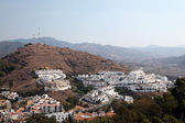 Hillside buildings in Malaga, Andalusia Spain — Stock Photo