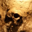 Skull inside of the St. Michales Cave in Gibraltar — Stock Photo #12350464
