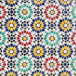 Colorful mosaic decoration in Rabat, Morocco — Stock Photo