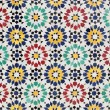 Colorful mosaic decoration in Rabat, Morocco — Stock fotografie